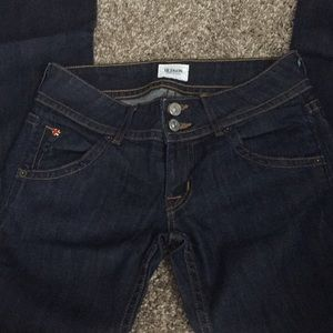 Hudson bootcut jeans, made in USA